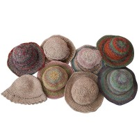 Hemp cotton mixed assorted round hats