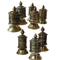 Assorted small table prayer wheel