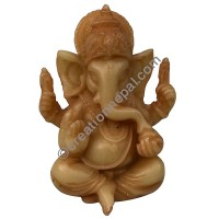 5-inch butter color Ganesh