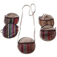5 inch hemp-Gheri strap round purse