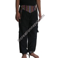 Bhutani lace black trouser