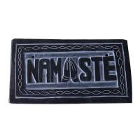 NAMASTE carved small stone panel