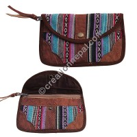 Leather-Gheri wide hand purse