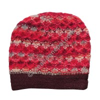 Colorful woolen red cap