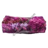Silk-wool flower pink headband