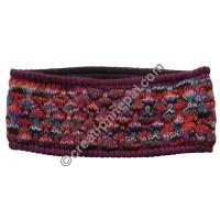 Colorful woolen maroon headband