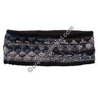 Colorful woolen black headband