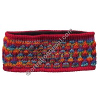 Colorful woolen red headband