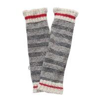Grey stripes woolen leg warmer