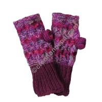 Burgundy border purple hand warmer