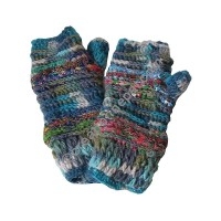 Colorful Turquoise tube gloves