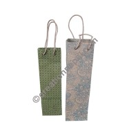 Lokta paper printed wine bag