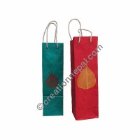 Lokta paper Bodhi leaf wine bag