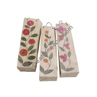 Lokta paper flower wine bag