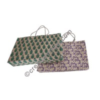 Printed Lokta horizontal Medium bag
