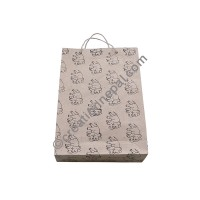 Elephants print Lokta regular bag