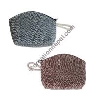 Hemp single zip  purse