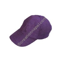 Hemp baseball purple cap