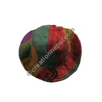 Jute colorful patch-work hat