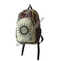 Sun Om hemp-cotton backpack