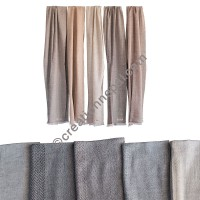 Soft wool Herringbone small muffler