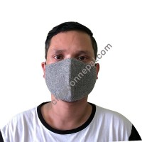 Hemp cotton 3 layer grey mask