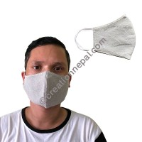 Hemp cotton V-shape light grey mask