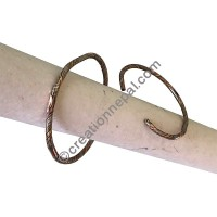 Mixed metal wire bangle