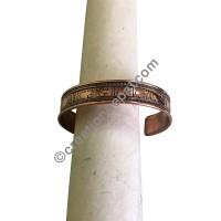 Buddha Mantra copper bangle3