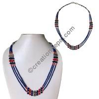 Lapis tiny beads necklace2