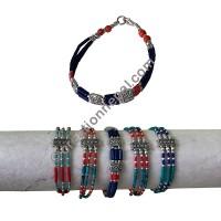 Assorted color 3-strand bracelet