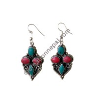 Turquoise-coral earring2
