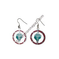 Conch circle earring
