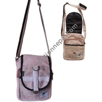 Hemp 2-zipper  utility bag