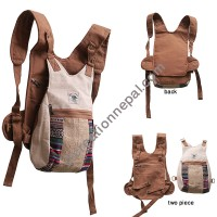 Detachable hemp fashion bag