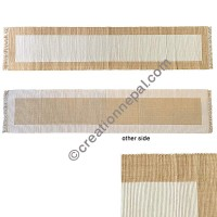 Cotton Table Runner-Brown