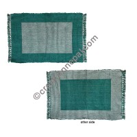 Dining table placemat green white