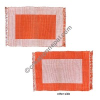 Dining table placemat orange white