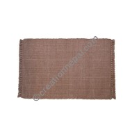 Dining table placemat solid brown
