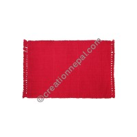 Dining table placemat solid red