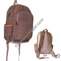 Hemp khaki green backpack