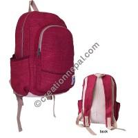 Hemp dark red backpack