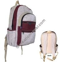 Red designer hemp backpack