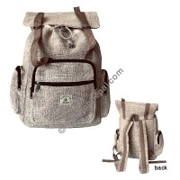Natural hemp rucksack bag
