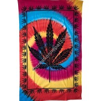Spiral cannabis tapestry