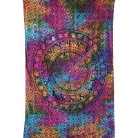 Elephant mandala colorful tapestry