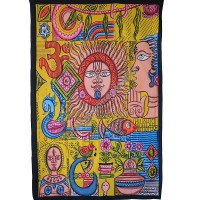 Mithila culture art tapestry