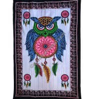 Owl dream catcher brushed tapestry