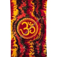 Large Om colorful tapestry