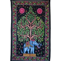 Elephant Bodhi tree tapestry